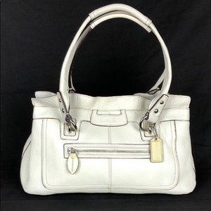Coach Penelope White Leather Bag